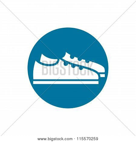 Footwear icon vector shoes pictogram. Clothing and fashion idea