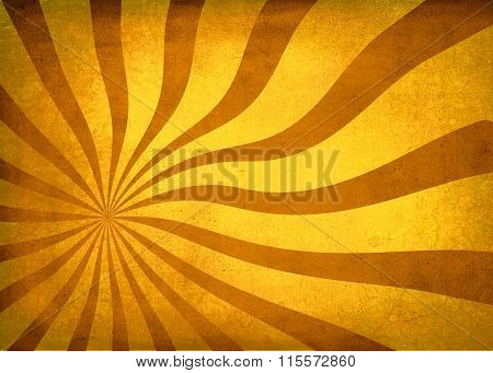 Sun Burst Textured Vintage Wavy Background Gold Tint