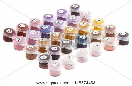 set of paints for painting