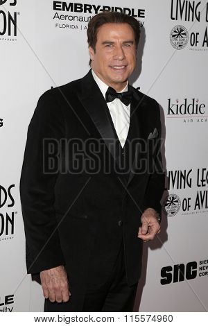 LOS ANGELES - JAN 22:  John Travolta at the 13th Annual Living Legends Of Aviation Awards at the Beverly Hilton Hotel on January 22, 2016 in Beverly Hills, CA
