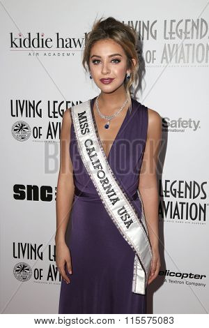LOS ANGELES - JAN 22:  Nadia Mejia at the 13th Annual Living Legends Of Aviation Awards at the Beverly Hilton Hotel on January 22, 2016 in Beverly Hills, CA