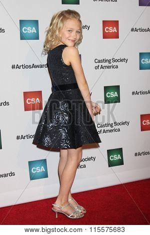 LOS ANGELES - JAN 21:  Alyvia Alyn Lind at the 31st Annual Artios Awards at the Beverly Hilton Hotel on January 21, 2016 in Beverly Hills, CA