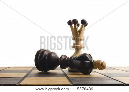 Winning Chess concept.