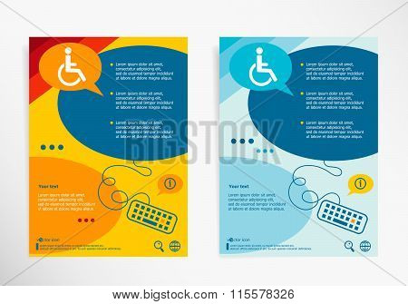 Disabled Handicap Icon On Chat Speech Bubbles