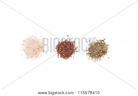 Different Sorts Of Salt. Isolated.