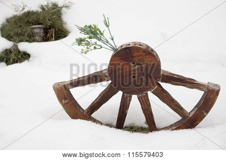 Wooden Half Wheel