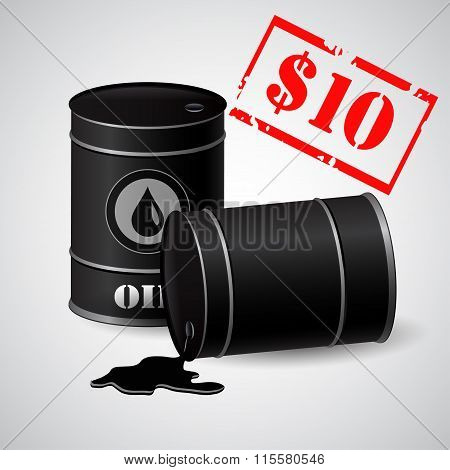Oil Barrel Illustration Price  10 dollars