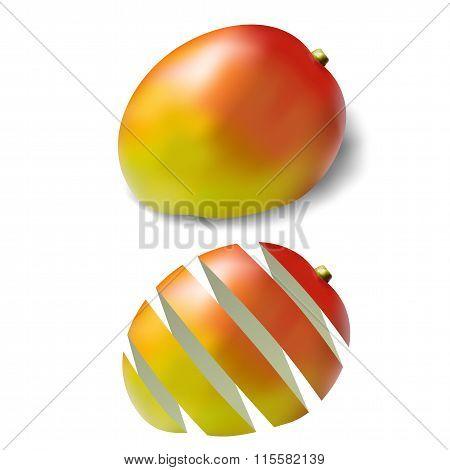 Two Beautiful Ripe Mango Skin