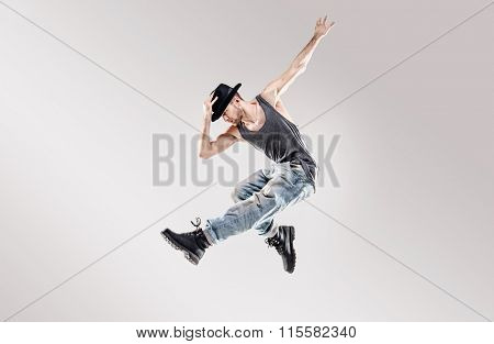 Young hip-hop dancer