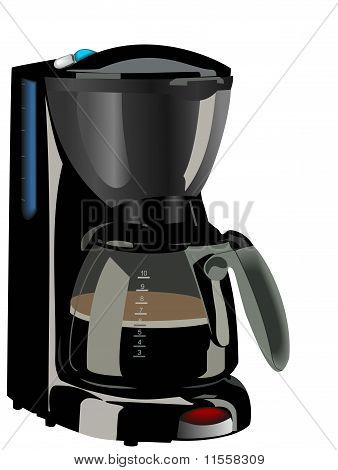 Realistic Illustration Of Coffee Maker