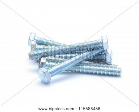 screw isolated on the white background