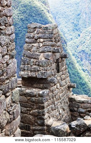 fragment of a house in the city of Machu Picchu