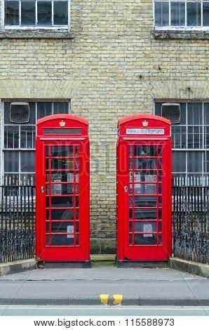 Traditional British Telephone Kiosks