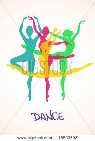 Illustration With Ballet Dancers.