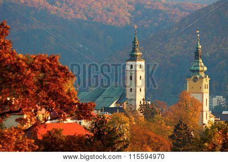Autumn historical town