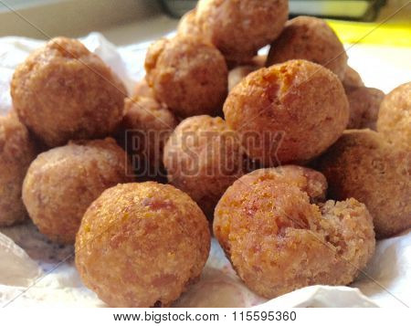 Fried Large Homemade Meatballs