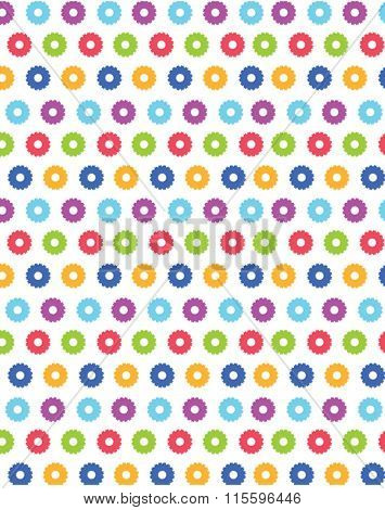Cute vector abstract flower pattern and wall paper