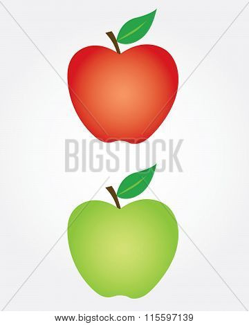Red and Green Vector Apples