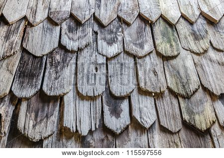Pattern Of Old Rotten Wooden Roof