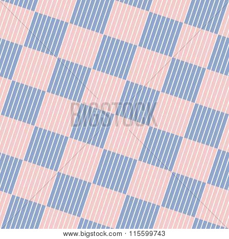 Striped Squares. Vector seamless background in ROSE QUARTZ & SERENITY colors of the year 2016