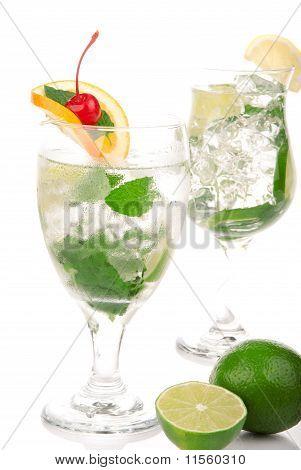 Green Mojito Cocktails