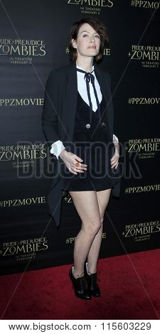 LOS ANGELES - JAN 21:  Lena Headey at the Pride And Prejudice And Zombies Premiere at the Harmony Gold Theatre on January 21, 2016 in Los Angeles, CA