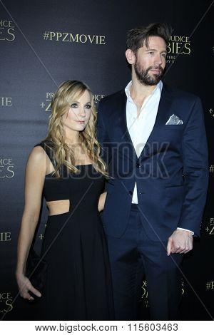 LOS ANGELES - JAN 21:  Joanne Froggatt, James Cannon at the Pride And Prejudice And Zombies Premiere at the Harmony Gold Theatre on January 21, 2016 in Los Angeles, CA