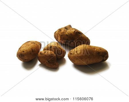 potatoes isolated on white background in the kitchen