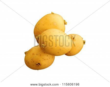 potatoes to eat isolated on white background