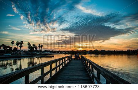 Sunset On The Dock