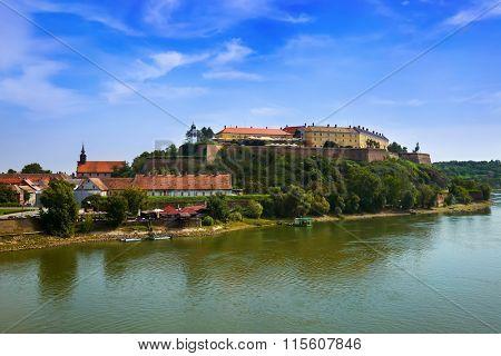 Petrovaradin fortress in Novi Sad - Serbia - architecture travel background