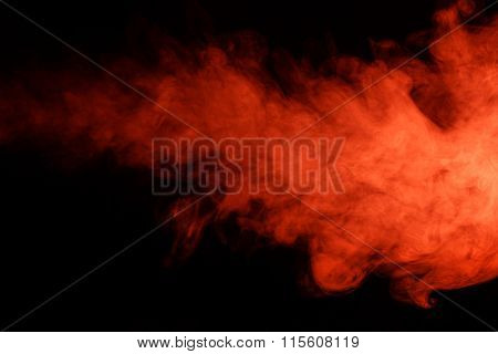 Abstract Red Smoke Hookah.