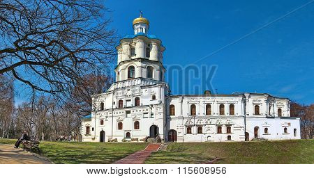 Chernigov, Ukraine - April 13, 2012: Panoramic view of the Chernihov College.