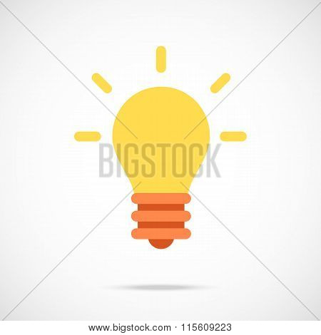 Vector lightbulb icon. Modern flat design vector illustration