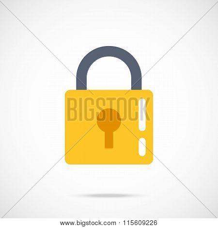 Vector lock icon. Modern flat design vector illustration