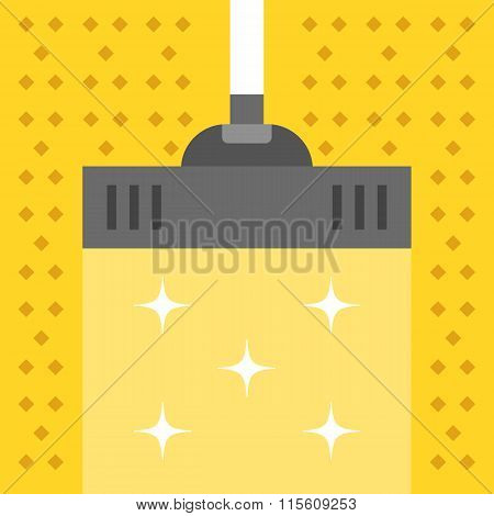 Vacuum carpet. Cleaning concept. Modern flat design vector illustration