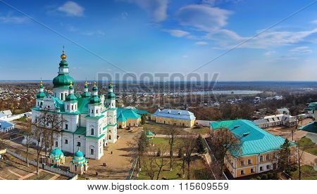 Chernigov, Ukraine - April 13, 2012: The Trinity Monastery (Troitsko-Illinskyi monastyr)