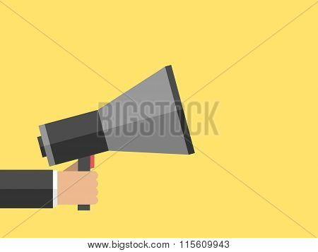 Hand With Megaphone