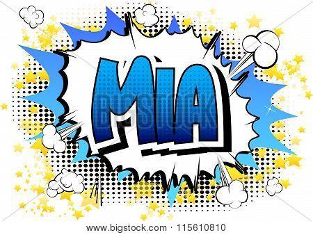 Mia - Comic Book Style Female Name.