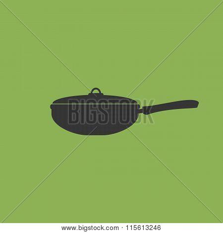 Wok Frying Pan Icon