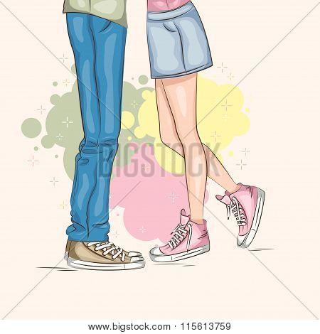 Be My Valentine! - Valentine's Day illustration