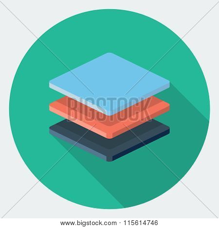 Vector stack of files, flat icon