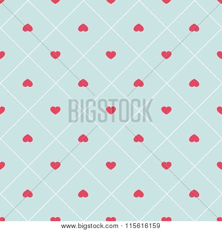Cute Retro Abstract Heart Seamless Pattern. Can Be Used For Cover Fills, Web Page Backgro