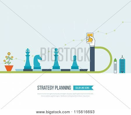 Investment growth. Strategy business. Investment.
