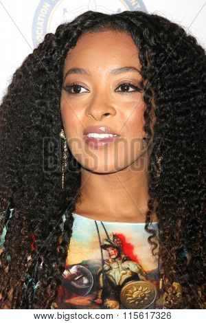 LOS ANGELES - JAN 23:  Jennia Fredrique at the 47th NAACP Image Awards Nominees Luncheon at the Beverly Hilton Hotel on January 23, 2016 in Beverly Hills, CA