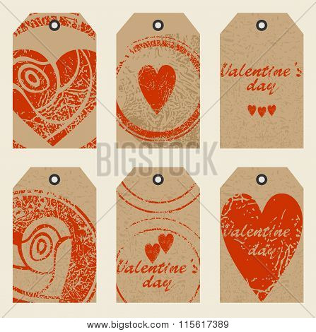 tags with hearts