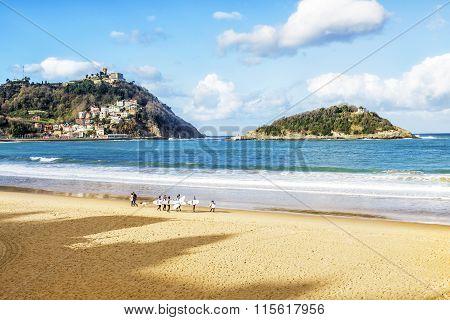 The Bay Of San Sebastian In Spain