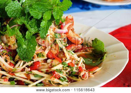 Shrimp Salad With Lemon Grass And Mint