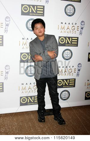 LOS ANGELES - JAN 23:  Hudson Yang at the 47th NAACP Image Awards Nominees Luncheon at the Beverly Hilton Hotel on January 23, 2016 in Beverly Hills, CA
