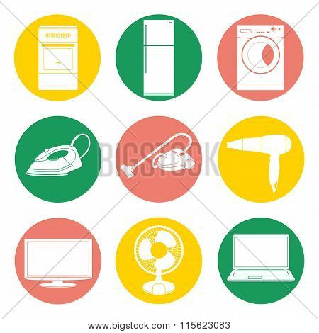 Vector collection of home appliance.
